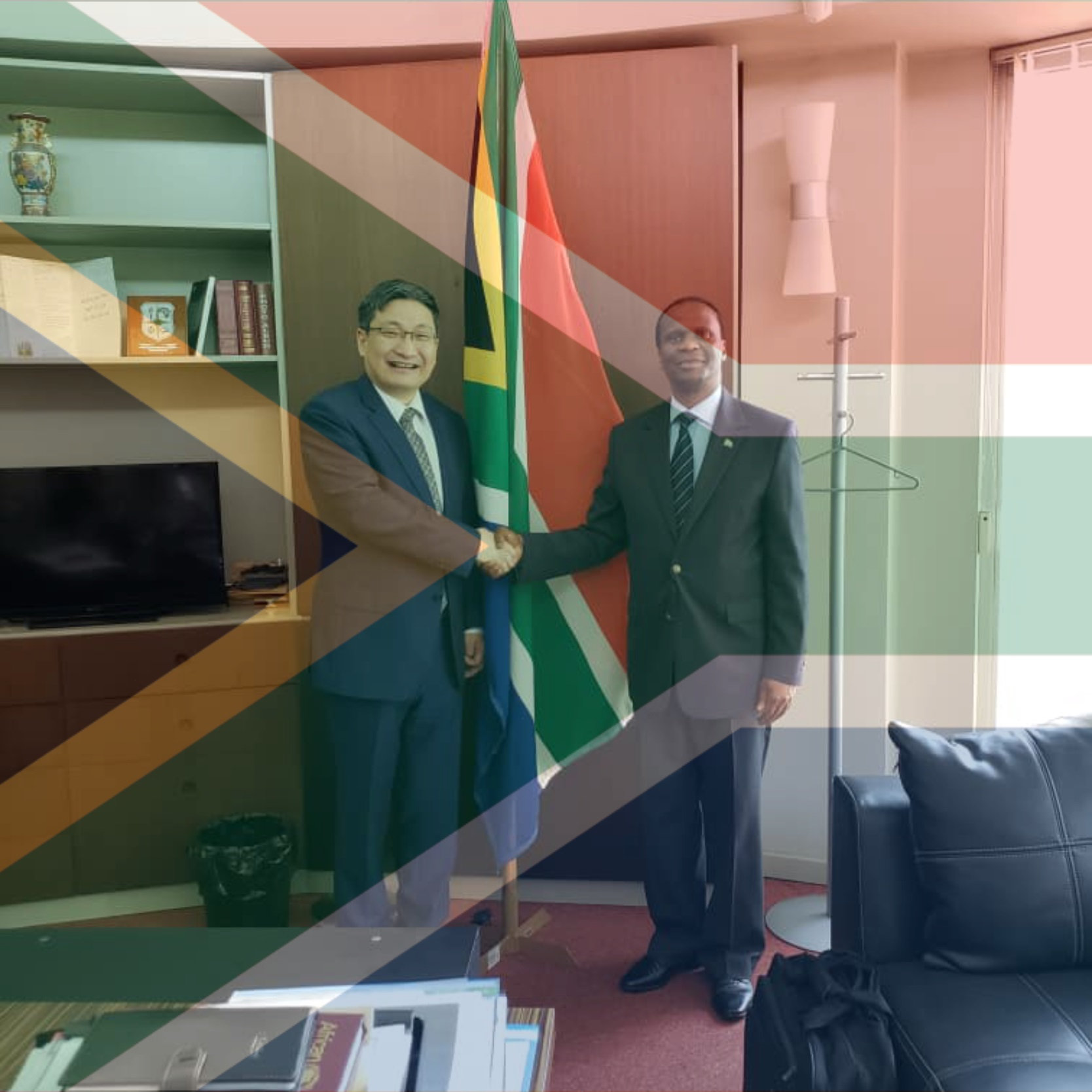 H.E Ambassador Edward Xolisa Makaya receives Ambassador of the People's Republic of China to the African Union, H.E Ambassador Liu Yuxi 11 December 2019